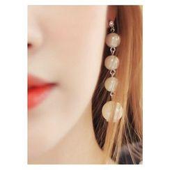 kitsch island - Faux-Pearl Drop Earrings