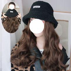 Princess Pea - Long Half Wig with Bucket Hat - Wavy