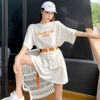 Be Bonita - T-Shirt Dress With Belt Bag