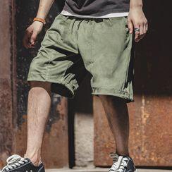 Maden - Drawstring Wide-Leg Shorts