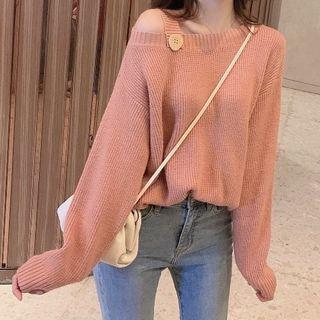 KARLY - Cold-Shoulder Sweater