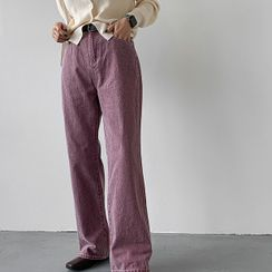 MERONGSHOP - Pigment-Washed Wide-Leg Pants