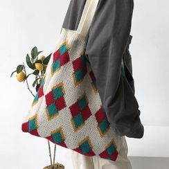 Geolte - Patterned Knit Tote Bag