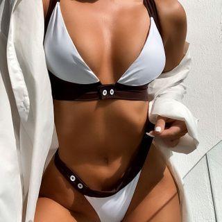 Frutto - Set: Two-Tone Bikini Top + Bottom