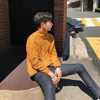 DragonRoad - Turtleneck Long-Sleeve Sweater