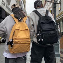 MUSIS - Plain Canvas Laptop Backpack
