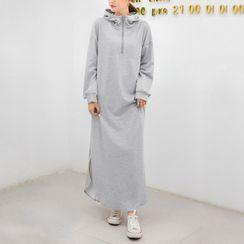 YARU - Maxi Zip Hoodie Dress