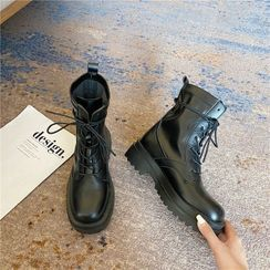 CYOS - Lace Up Platform Short Boots