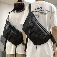 SUNMAN - Plain Snap Buckle Sling Bag