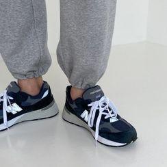 Seoul Homme - Drawstring-Hem Jogger Pants