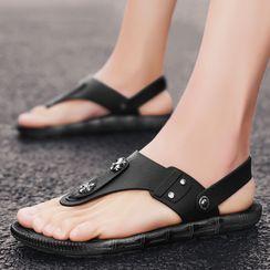 JACIN - Plain Flat Sandals
