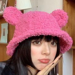 Pompabee - Bear Ear Fleece Bucket Hat