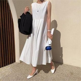 Ontheriver - Sleeveless V-Neck A-Line Dress