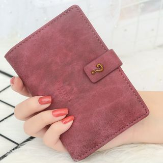 NICOLEBONNIE - Question Mark Buttoned Buckled Wallet