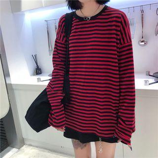 LINSI - Striped Long-Sleeve T-Shirt