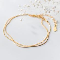 A'ROCH - 925 Sterling Silver Layered Bracelet