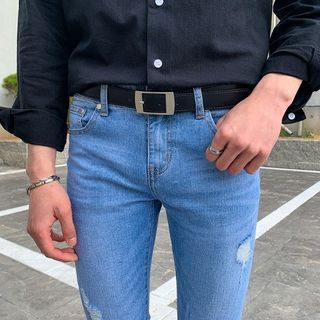 Seoul Homme - Square-Buckle Stitched Belt