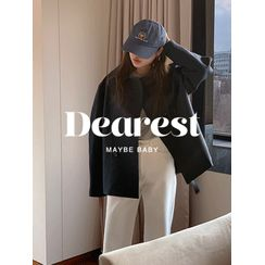 maybe-baby(メイビ―ベイビー) - Double-Breasted Trench Jacket With Sash