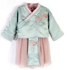 Caleah  - Kids Hanfu Embroidered Long-Sleeve Dress