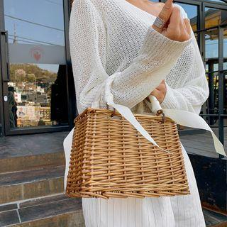 LIPHOP - Rattan Square Tote Bag