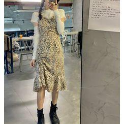 M for Macy - 短袖T裇 / 豹纹背带连衣中裙