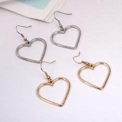 Green Isle - Heart Earrings