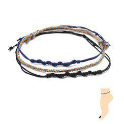 KATENKELLY - Thread Anklet Set of 3 (Blue)