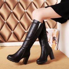 Artiz - Block Heel Knee High Boots