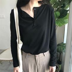 MELLO - Long-Sleeve Henley T-Shirt