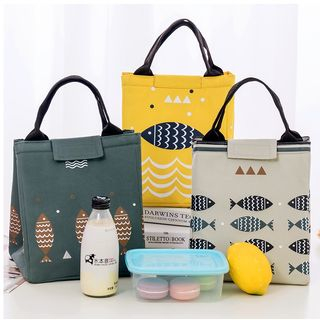 School Time - Fish Print Insulated Lunch Bag