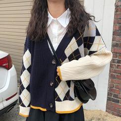 Dute - Color-Block Cardigan