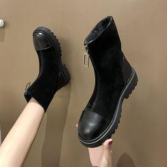Vindler - Front Zip Short Boots