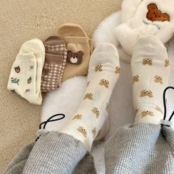 Intimo - 小熊印花袜子