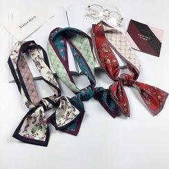 Follow Me - Contraste reversible Ajuste floral estampado cuello bufanda / diadema