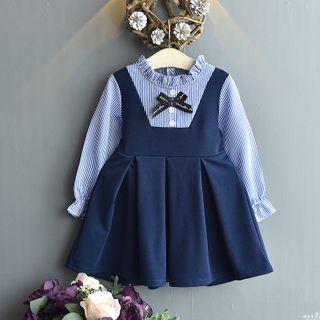 ZiG ZaG - Kids Mock Two-Piece Long-Sleeve A-Line Dress