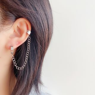 Mimishi - Chained Alloy Cuff Earring