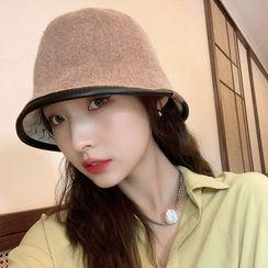 Nikifa - Contrast Trim Knit Cloche Hat