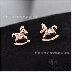 潮野 - 馬型閃石耳環