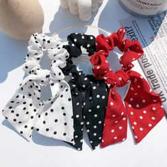 Miss Floral - Dotted Chiffon Hair Tie