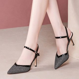 JY Shoes - Pointed High Heel Sandals