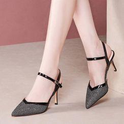 锦洋鞋业 - 尖头高跟凉鞋