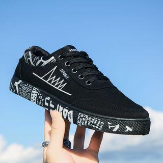 Viffara - Print Lace Up Sneakers