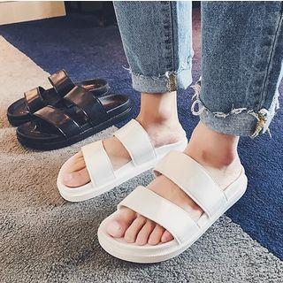YERGO - Faux Leather Slippers