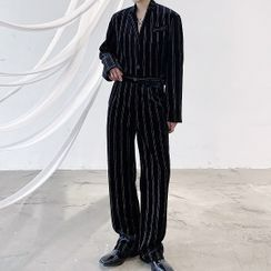 ANCHO - Striped Blazer / Wide Leg Pants