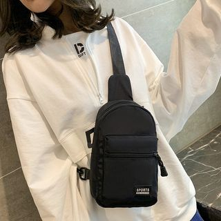 Faneur - Applique Nylon Sling Bag