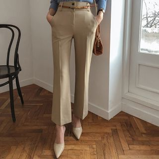 DABAGIRL - Semi Boot-Cut Dress Pants