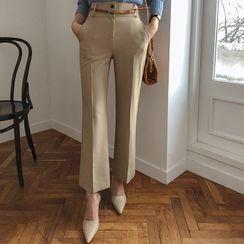 DABAGIRL - Semi Boot-Cut Dress Pants