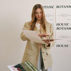 FROMBEGINNING - [BOTANIC HOUSE] Buttoned Tweed Jacket