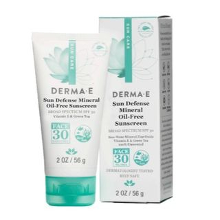 Derma E - Natural Mineral Sunscreen Broad Spectrum SPF 30 For Face, 2oz