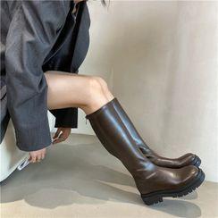 POPOW - 厚底短靴 / 高身靴